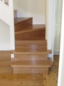 Custom Stairs build on site by TBBUILD